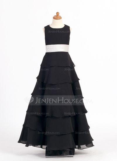 Robes+de+demoiselle+d'honneur+-+junior+-+$119.99+-+Forme+Princesse+Col+rond+Longueur+cheville+Mousseline+Charmeuse+Robe+de+demoiselle+d'honneur+-+junior+avec+Ceintures+Fleur(s)+Robe+à+volants+(009022453)+http://jenjenhouse.com/fr/Forme-Princesse-Col-Rond-Longueur-Cheville-Mousseline-Charmeuse-Robe-De-Demoiselle-D%E2%80%99honneur-Junior-Avec-Ceintures-Fleur-S-Robe-A-Volants-009022453-g22453
