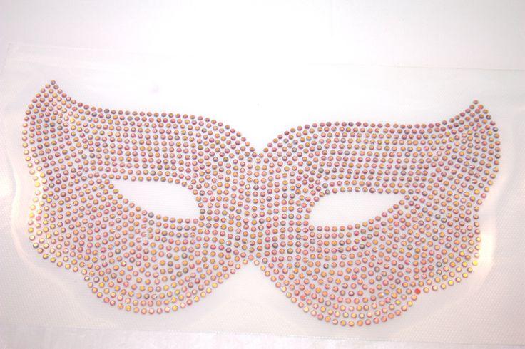 rhinestone AB color eye mask.