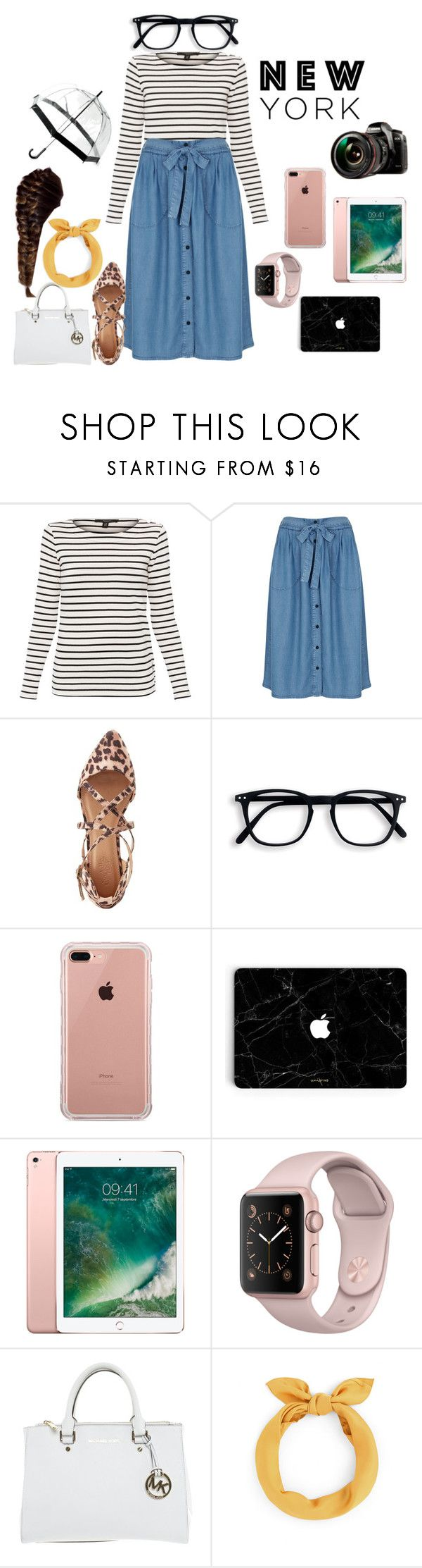 """Sightseeing in New York"" by skirtsandshirts ❤ liked on Polyvore featuring Weekend Max Mara, Miss Selfridge, Charlotte Russe, Belkin, Michael Kors, Saks Fifth Avenue and Panasonic"