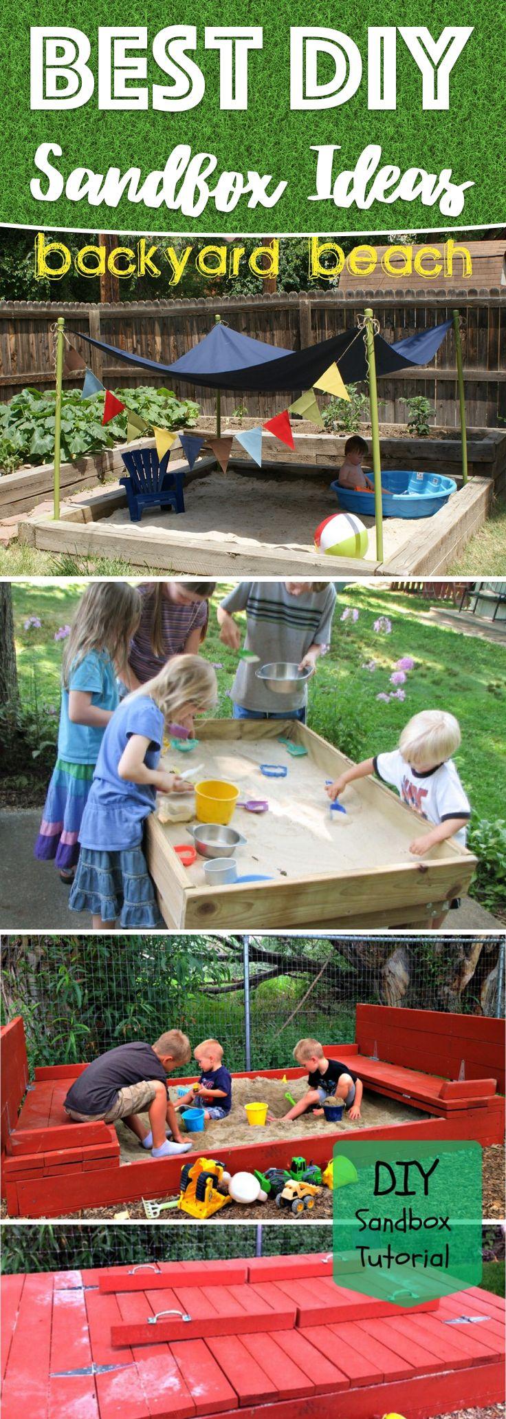Backyard Sandbox Ideas diy sandbox with cover tutorial 25 Best Sandbox Ideas On Pinterest Sandbox Sandpit Ideas And Kids Sandbox