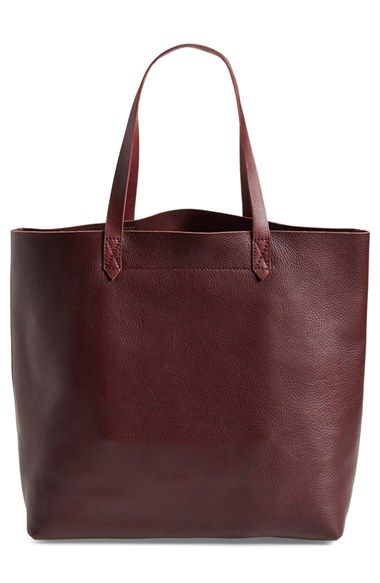 Madewell 'The Transport' Leather Tote found at @nordstrom  // love this cranberry color for fall #nordstrom