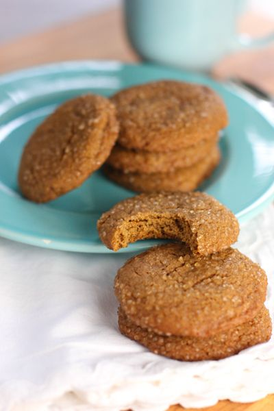 Soft Ginger Cookies! Perfectly soft and chewy ginger cookies! You will want to make these over and over again!