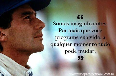 Eu considero o Senna um dos nossos maiores atletas do nosso país, ele é um exemplo de pessoa!