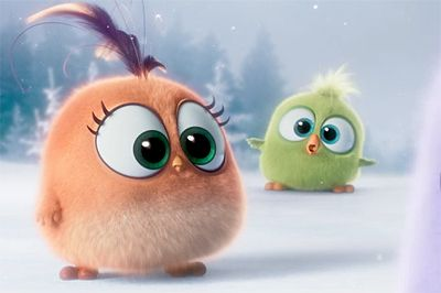 """Our first look at the the adorable Hatchlings from The Angry Birds Movie as they (attempt to) sing """"Deck the Halls"""" to get us in the Christmas spirit."""