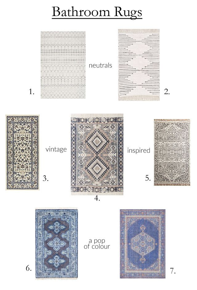 Rug options that work beautifully in a bathroom {but aren't actually bathroom mats!}