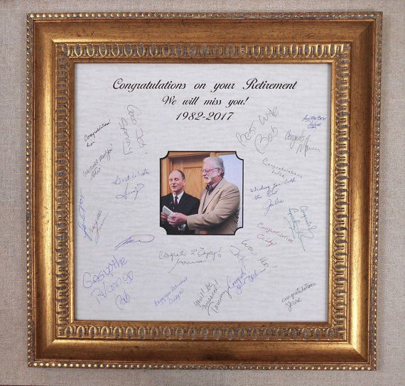 Retirement Frame Gift-Signature Mat Frame-Marriage