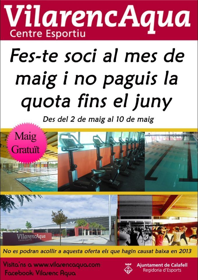 FES-TE SOCI AL MES DE MAIG I NO PAGUIS LA QUOTA FINS EL JUNY
