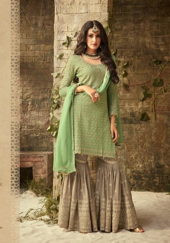 b1b89df696 Mohini Fashion Designer Sharara Style Salwar Suit in 2019 | Indian ...