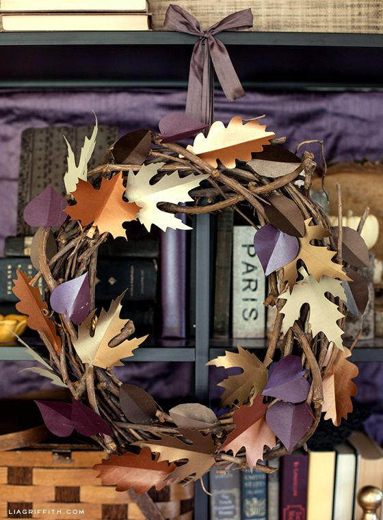 Fall Paper Leaf Wreath