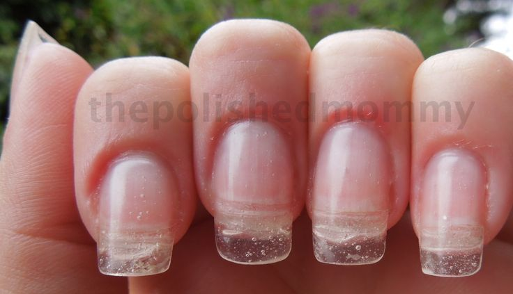 Adding Length to Your Natural Nail Using Dual Forms and Hard Gel... - The Polished Mommy