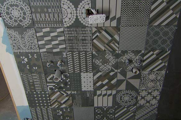 Azulej Nero Combination - The Block *IN STOCK at Urban Edge Ceramics