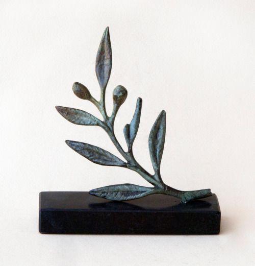 Bronze Olive Branch, Metal Art Sculpture, Museum Quality Art, Greek Art, Olive Sculpture, Goddess Athena Symbol, Ancient Greece, Olives