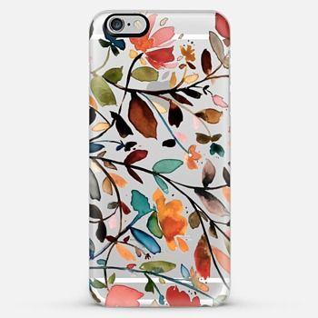 Wildflowers Transparent iPhone 6 Plus Case