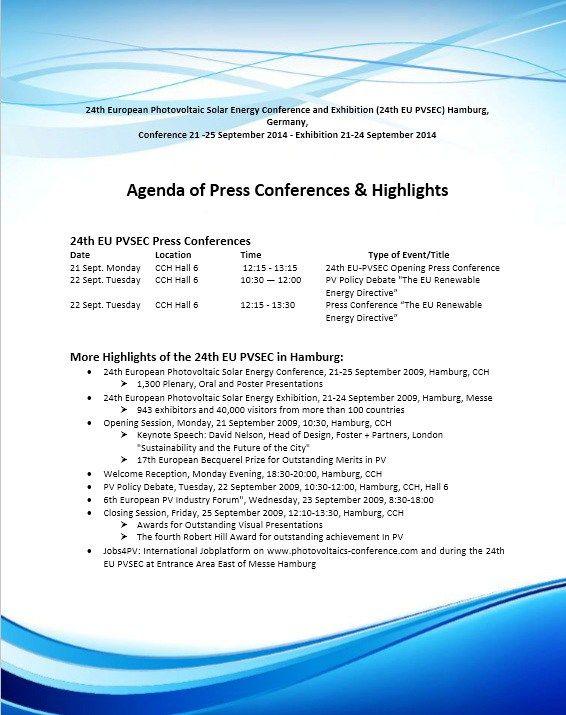 25+ parasta ideaa Pinterestissä Conference agenda - agenda template