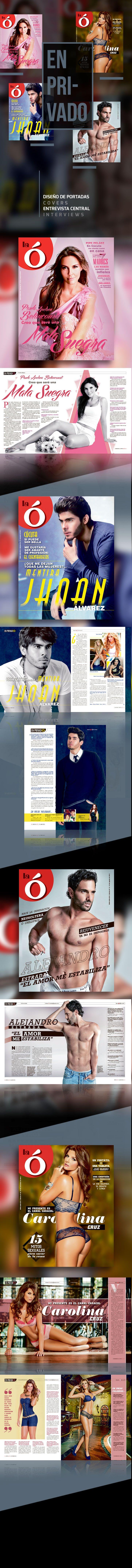 Diseño editorial // Revista: La Ó // Sección: Portada y En privado Instagram: @carmarcusdesign  https://www.behance.net/gallery/21597173/EN-PRIVADO