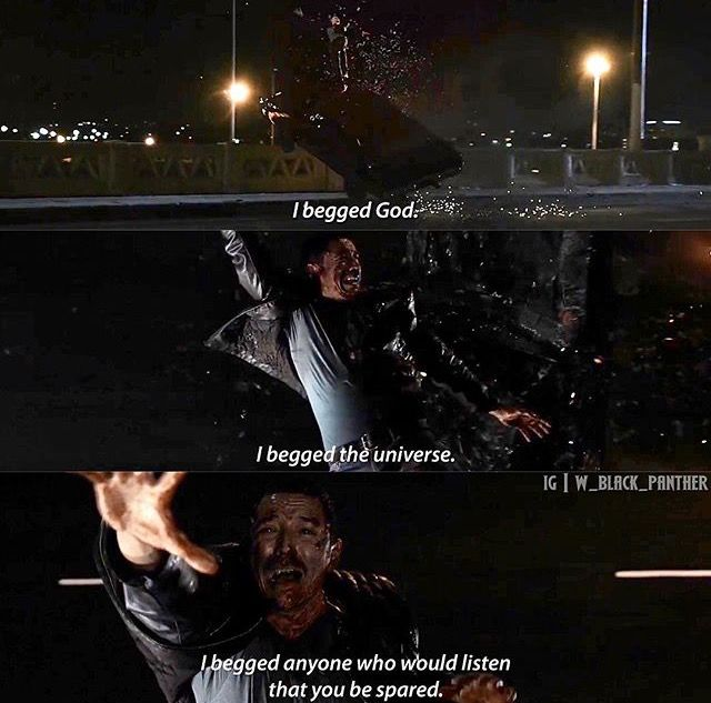 Robbie being thrown from the car and killed in the Ghost Rider origin story. Agents of Shield.