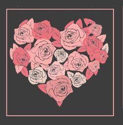 Trouwkaart hart gemaakt van roze rozen op zwart. Kies de kaart, pas de tekst aan en vraag een gratis proefdruk op (je betaalt zelfs geen verzendkosten!). http://www.trouwpost.nl/trouwkaarten/hartjes/