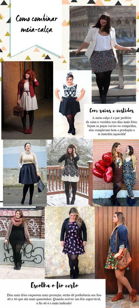 Quer ver diferentes maneiras de combinar meia-calça com seus looks plus size do dia a dia? Tem várias dicas de estilo te esperando no blog!