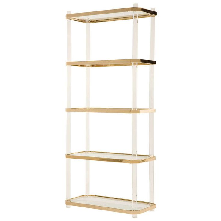 vintage lucite brass etagere shelves antiques and vintage. Black Bedroom Furniture Sets. Home Design Ideas