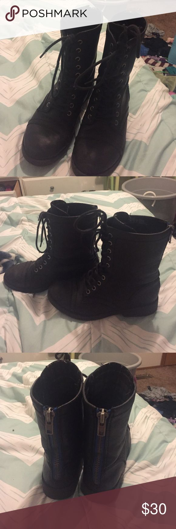 Woman's combat boots Good condition. Only worn a couple times Shoes Combat & Moto Boots