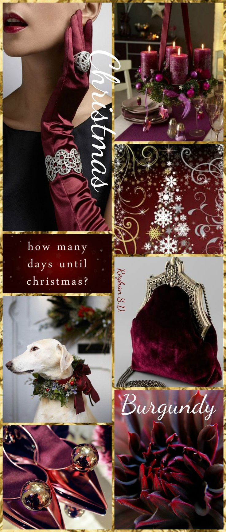 '' Christmas~ Burgundy '' by Reyhan S.D.