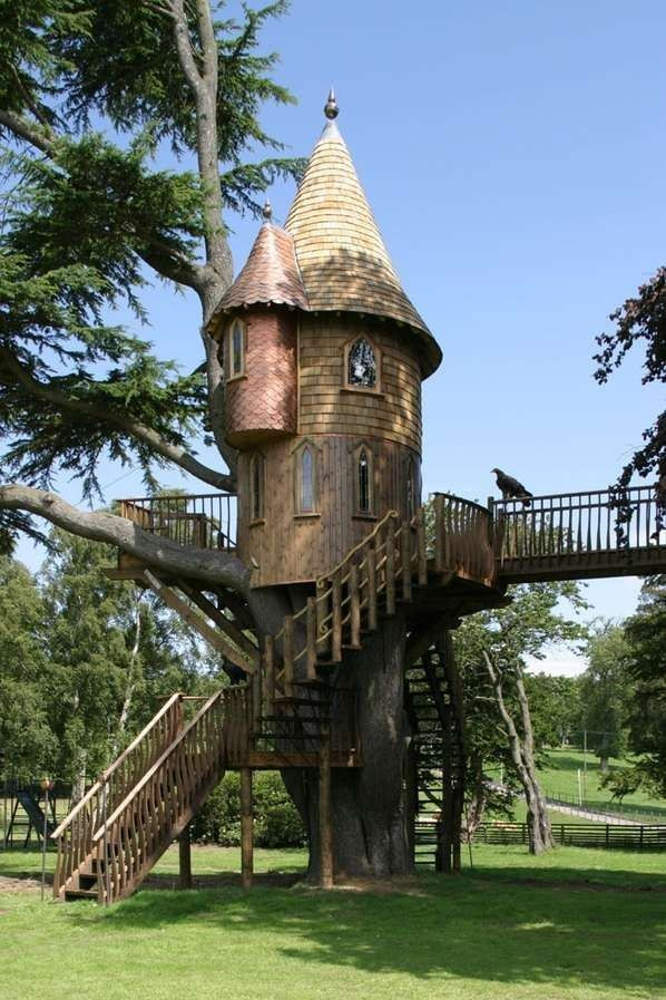 A magical treehouse | 22 Weird And Wonderful Features You'll Wish You Had In Your Garden