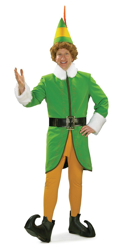 this deluxe buddy the elf costume is a funny costume idea for halloween or christmas become will ferrells funny character with this buddy the elf costume - Funny Character Halloween Costumes