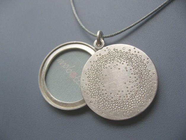 Grosses Medaillon Silber für ein Foto 26mm
