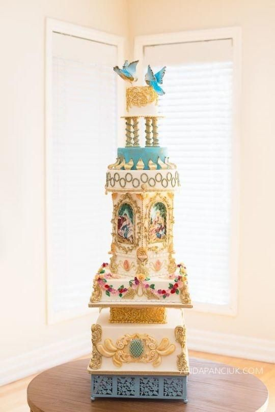 Rococo Wedding Cake. This is beautiful. Kudos to whoever put all of the hard work into this.