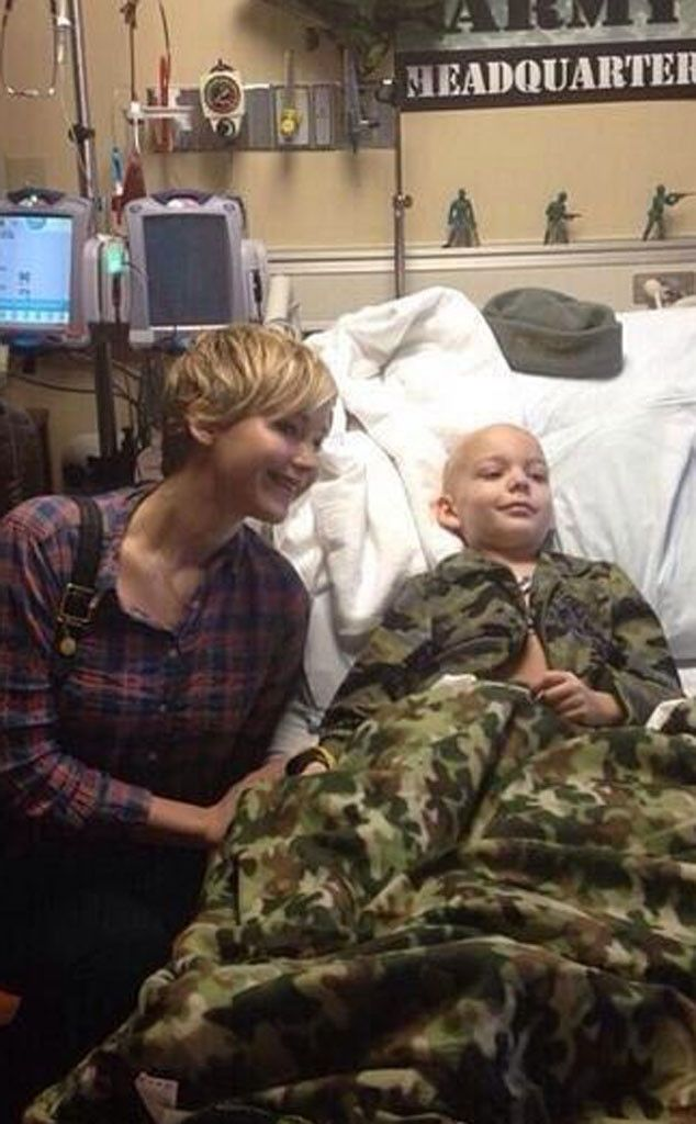 Jennifer Lawrence Visits Children's Hospital in Louisville... just another reason to like her... :)