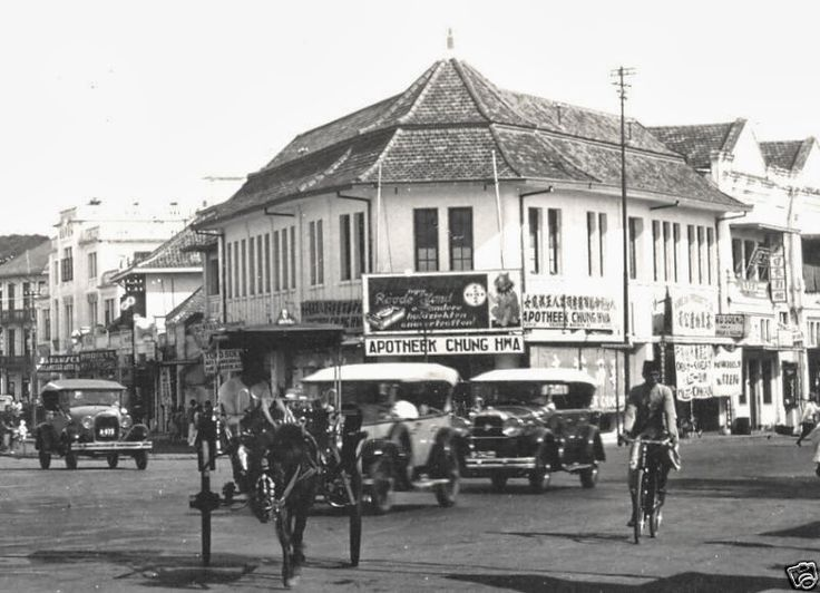 Apotek Glodok ~ Jakarta ~ Indonesia (1930). Glodok is Jakarta's china town, it's still there! And good news is the government revitalized the heritage buildings trying tehir best to make it appear as it was in the old days. Some buildings has been finished. It's so fascinating!!