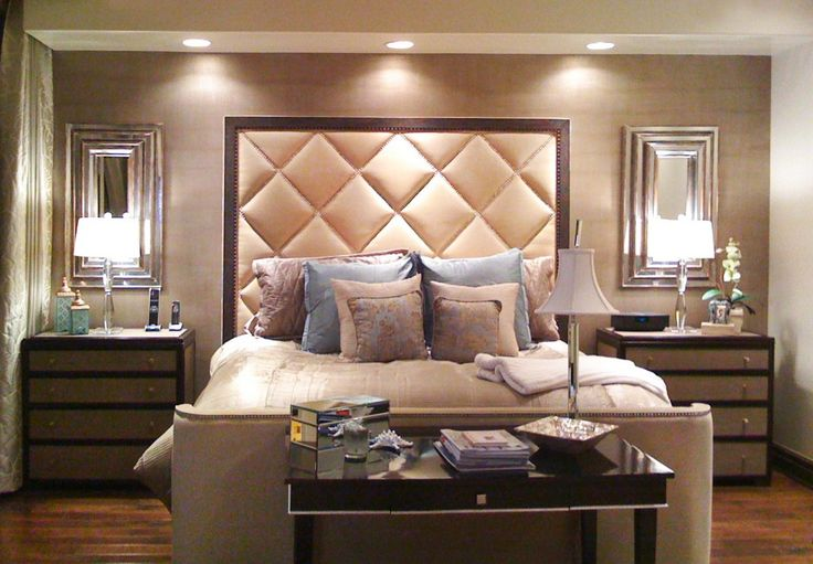 Hotel-like Bedroom -- tufted headboard