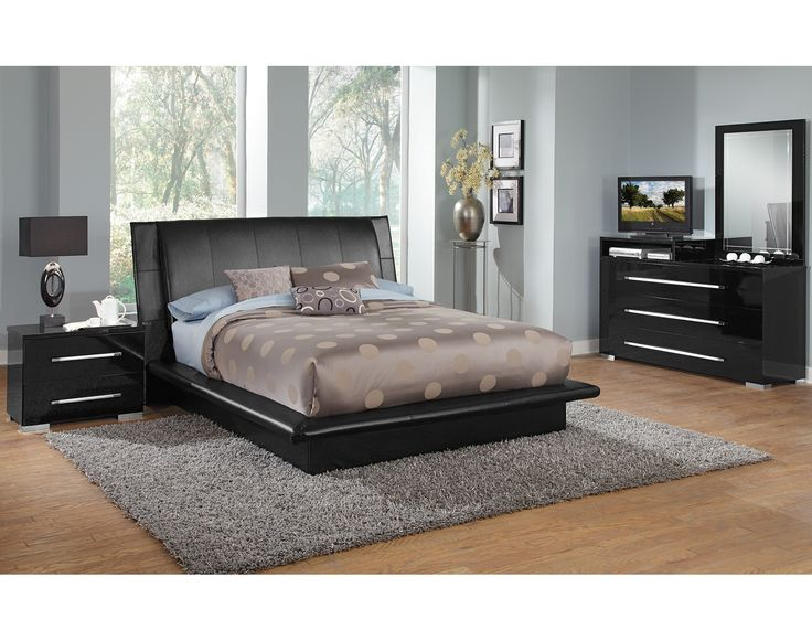 sleek bedroom furniture. american signature furniture dimora black bedroom dresser u0026 mirror with deck sleek c