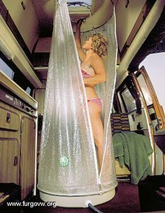 furgoneta camper ducha - Buscar con Google