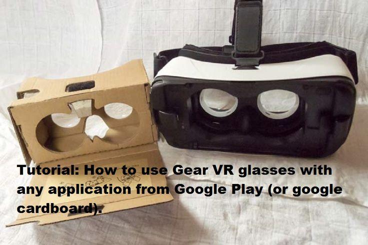 Tutorial: How to use Gear VR glasses with any application from Google Play (or google cardboard). --- Tutorial: cum să utilizezi ochelarii Gear VR cu orice aplicaţie din Google Play (sau google cardboard).