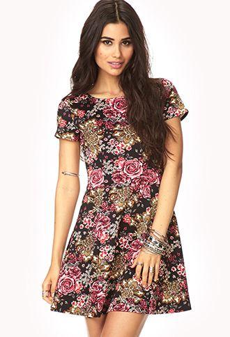 floral sketer dress #skaterdress