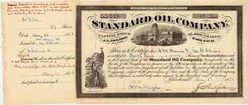 Standard Oil Co. 37 shares à 100 $ 1.5.1878.