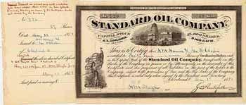 Standard Oil Co. 37 shares à 100 $ 1.5.1878.