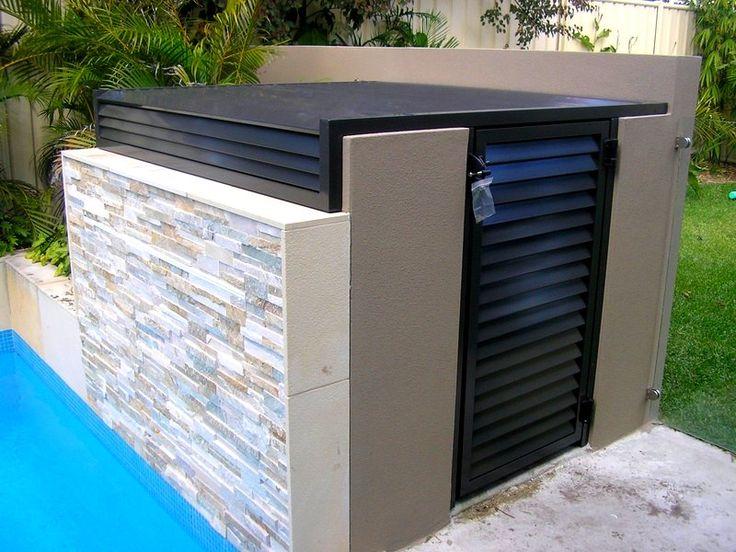 Pool Filter Enclosure Ideas pool pump house Representation Of Unique Pool Equipment Enclosures Ideas