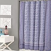 image of Jessica Simpson Mosaic Shower Curtain in Purple