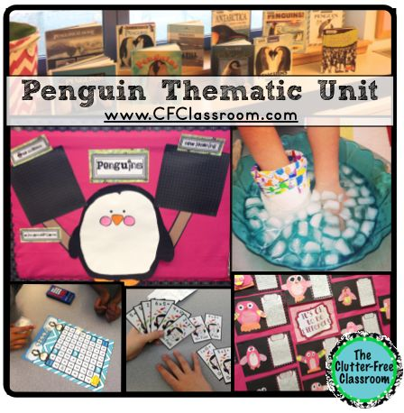 Penguin Thematic Unit {Common-Core Aligned} penguins, book list, math games, science, hands-on, activities writing, research and more