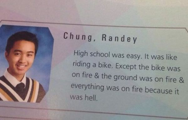 High school was easy. Just ask this high school senior, who said what ...
