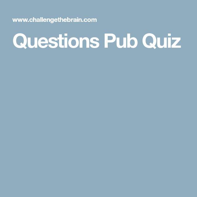 Questions Pub Quiz