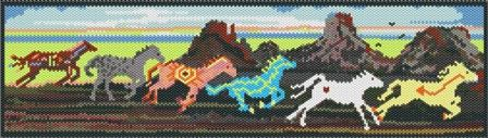 Instant Download! PAINTED PONIES PATTERN: Beads Patterns, Peyote Brick Comanch Patterns, Bracelets Patterns, Peyote Patterns, Ponies Patterns, Loom Patterns