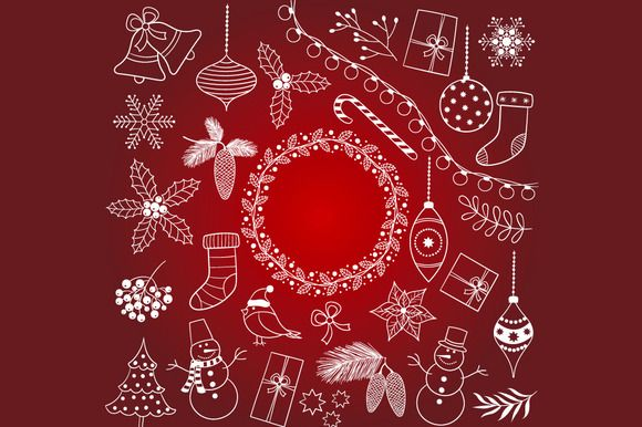 Check out Doodle Christmas Set by LoveGraphicDesign on Creative Market