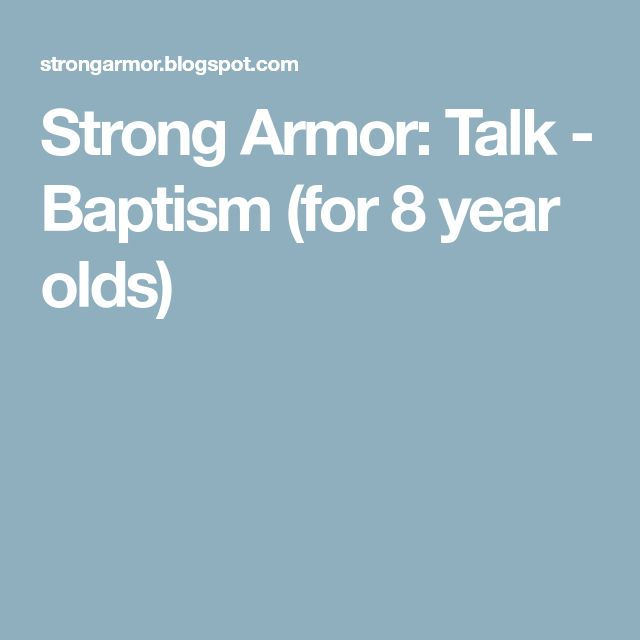 Strong Armor: Talk - Baptism (for 8 year olds)