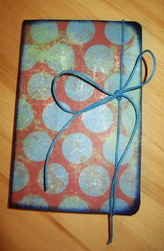 Handmade mini notebook A6 Modern circles cute by NIKscrapbooking For sale ! ! ! !