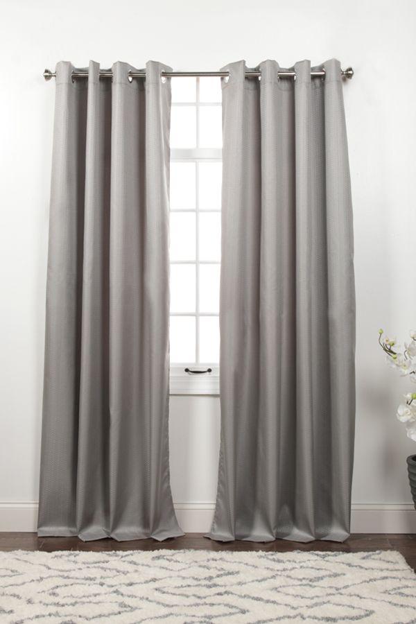 Memento Room Darkening Grommet Curtain Panels Panel Curtains Grommet Curtains Drapes And Blinds