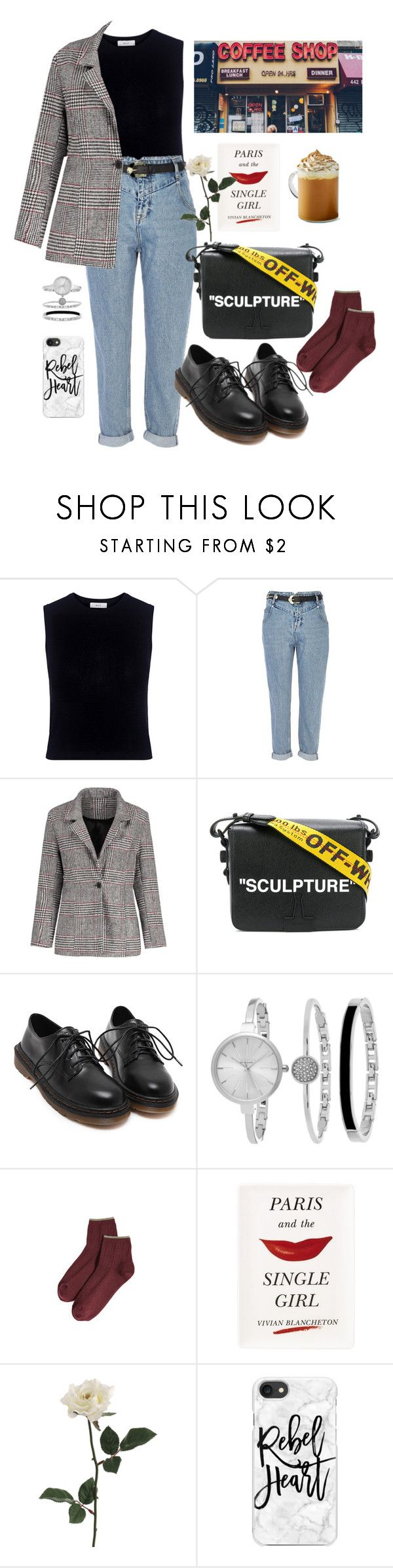 """Untitled #25"" by dwikartks ❤ liked on Polyvore featuring Mother of Pearl, River Island, Off-White, SO & CO, Madewell, Kate Spade and Casetify"