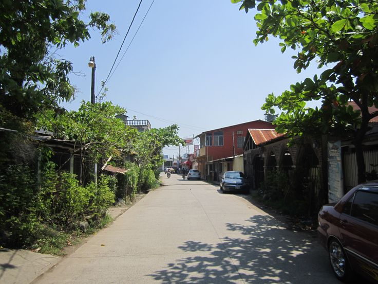 Typical street in Puerto Barrios, Guatemala...